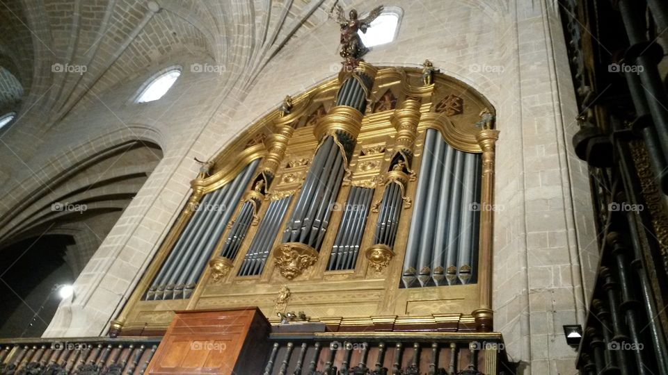 organ, cathedral of Calahorra. Spain