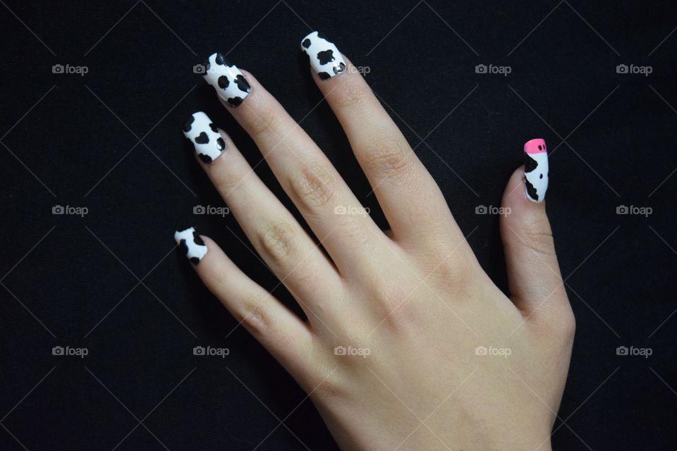 Hands Nail Polish