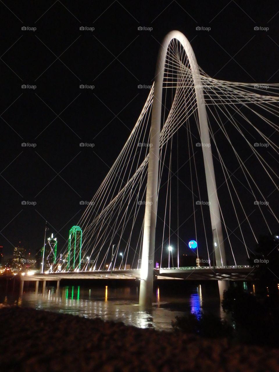Dallas night skyline