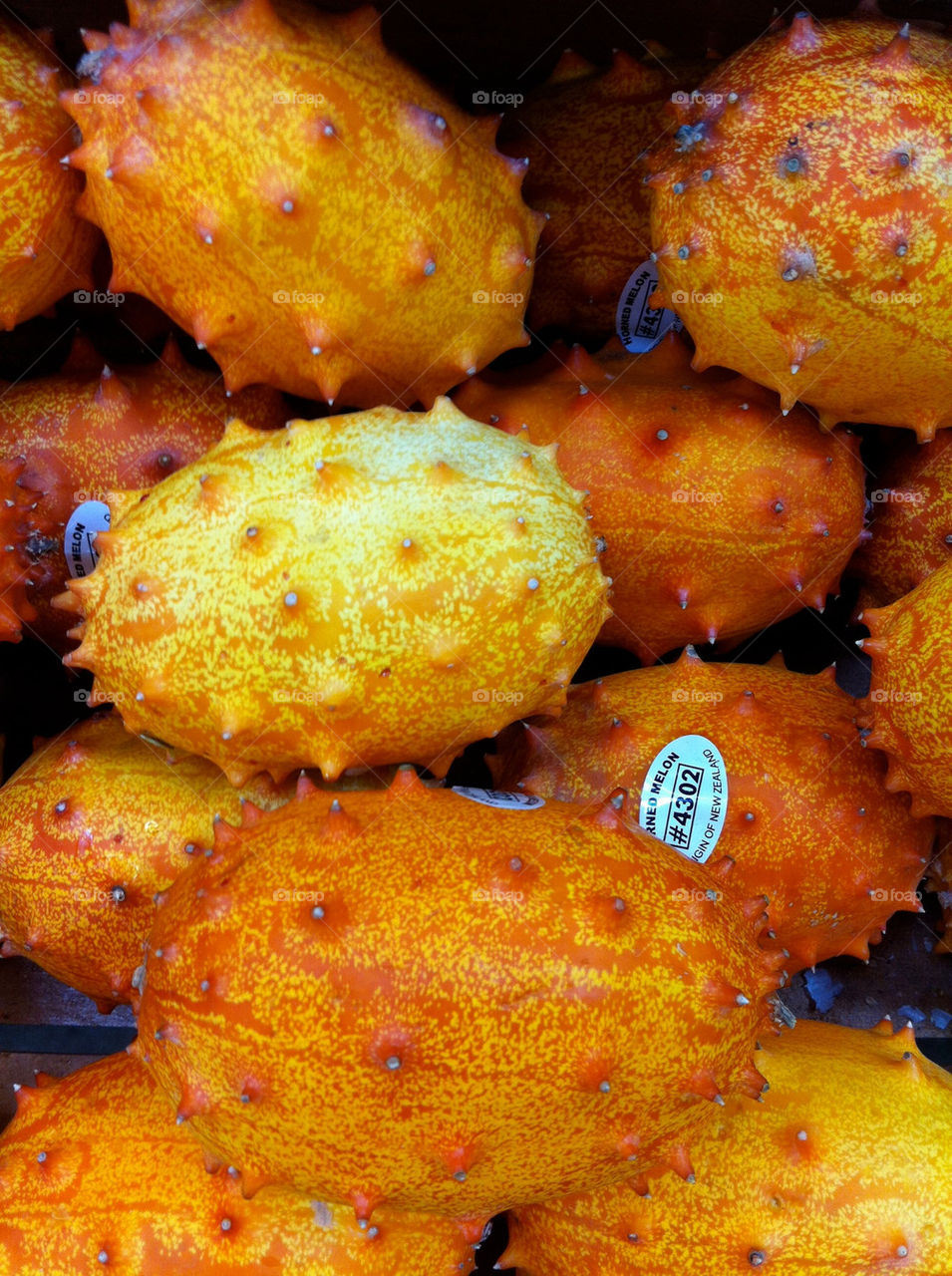 Kiwano Melon located at an American midwestern market.