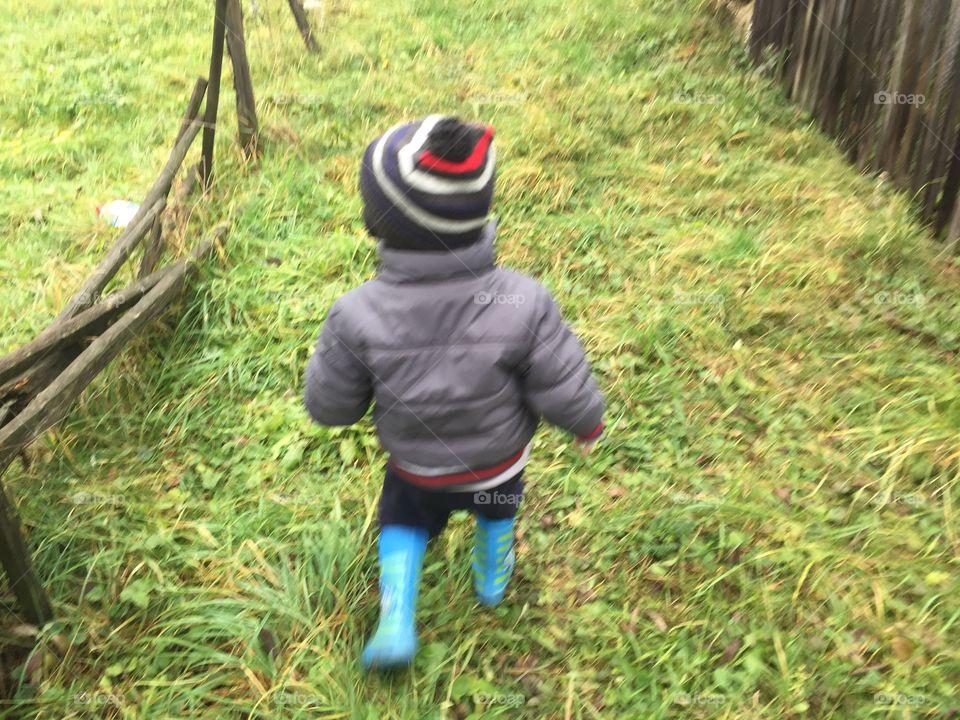 Grass, Child, Leaf, Nature, Wood