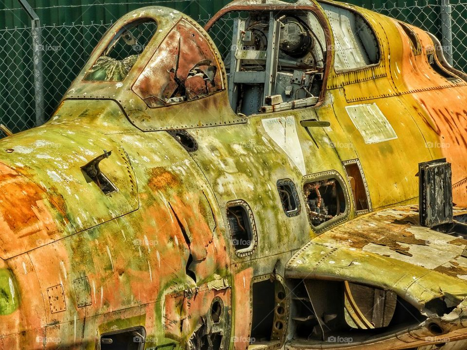 Rusted Old Fighter Plane