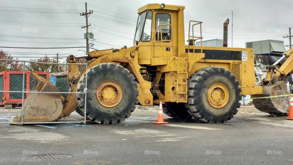 Big bulldozer.