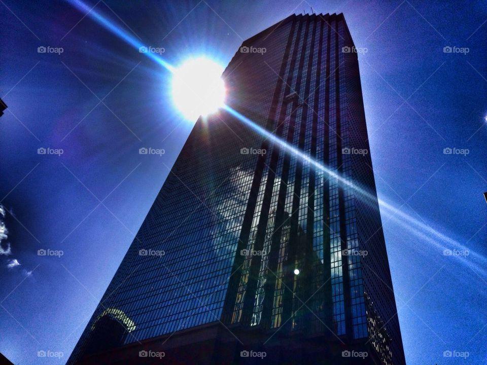 Black Monolith in the Sun