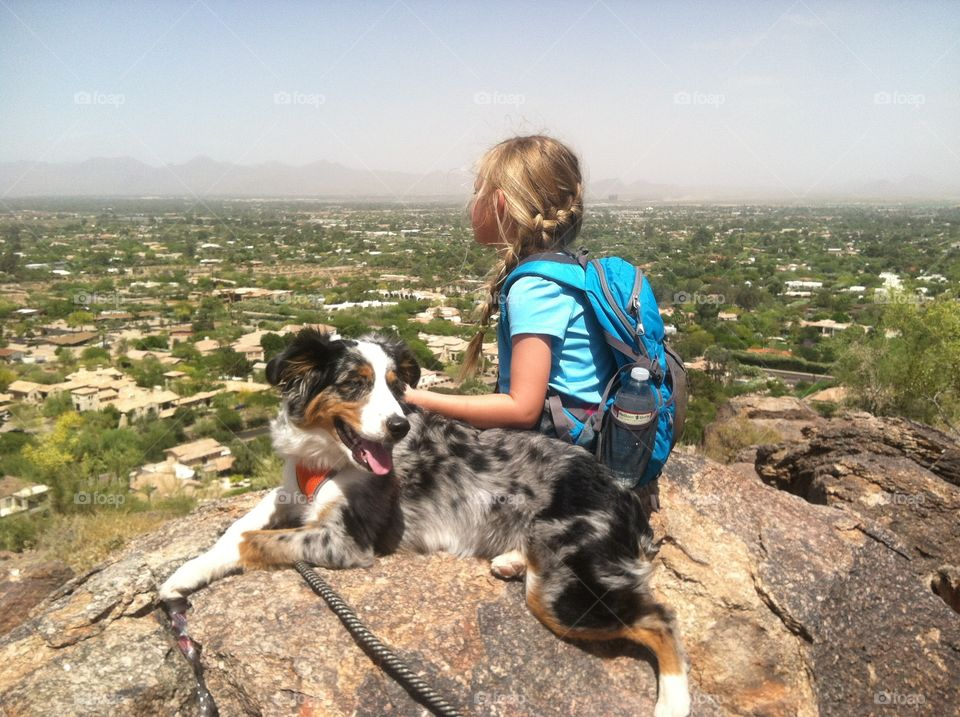 From the top . Camelback mountain Scottsdale AZ