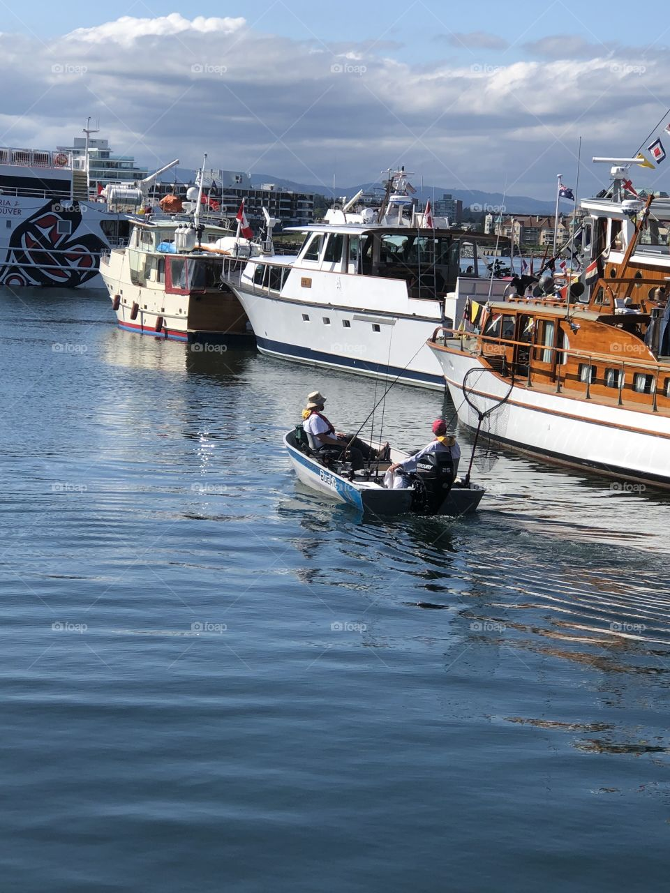 Traveling From Point A To Point B Vibrant Vintage Victoria Downtown Harbour Going Fishing