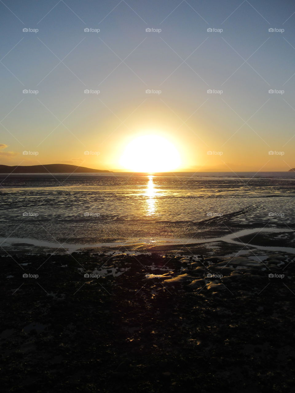Sunset overlooking Weston-s-mare beach