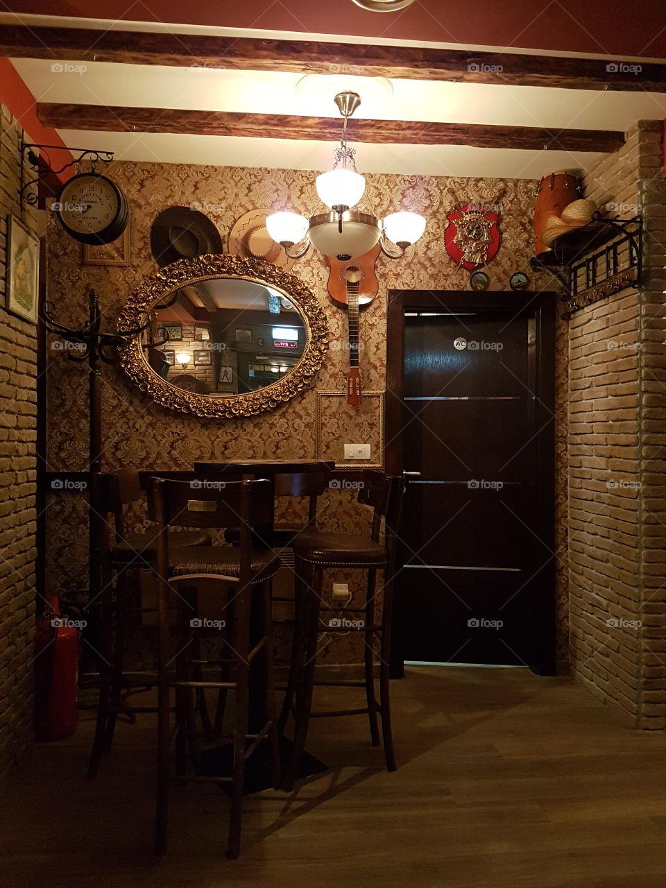 irish pub. indoors
