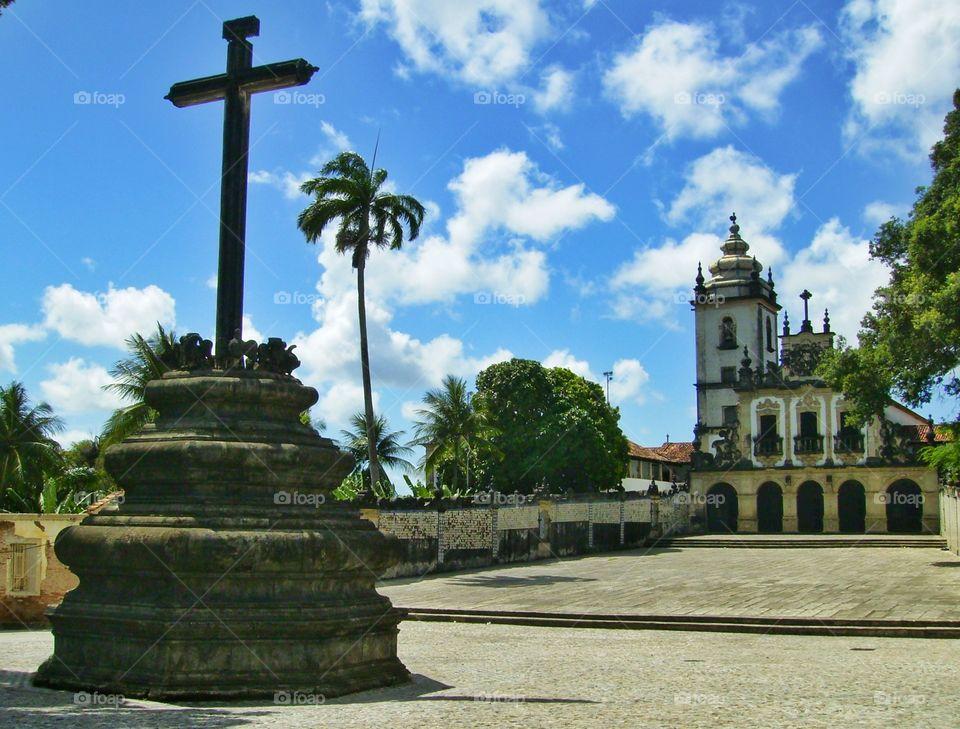 São Francisco church at the historical center of João Pessoa