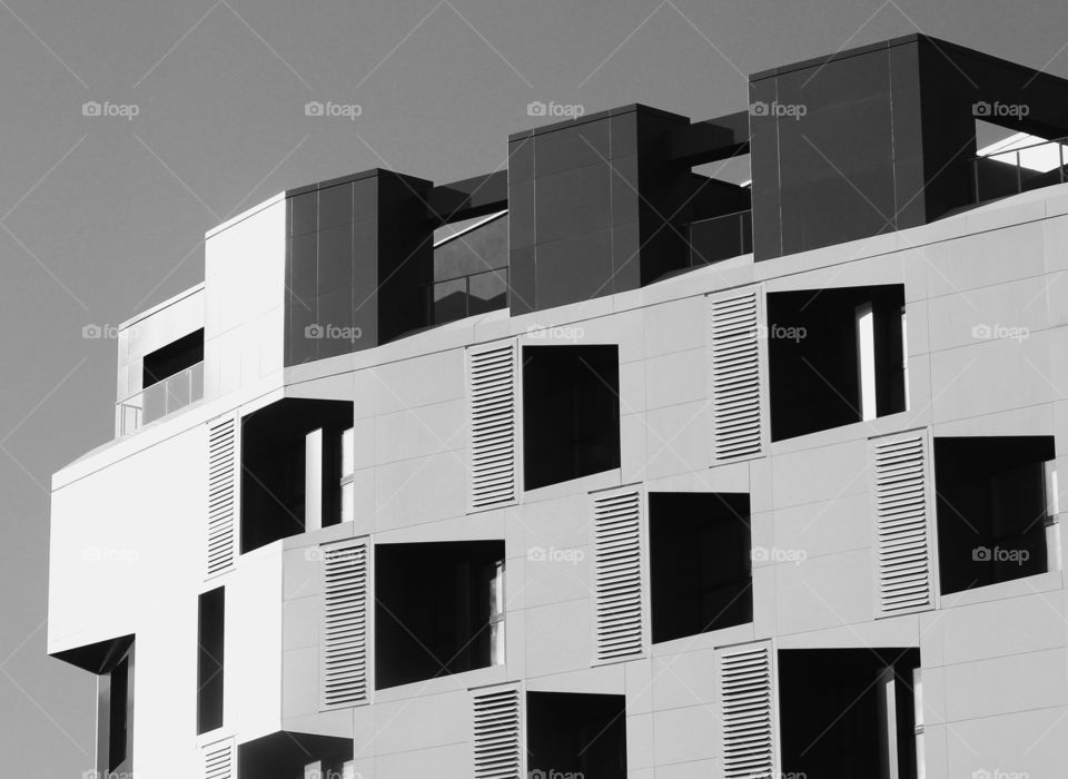 Modern building exterior, city architecture