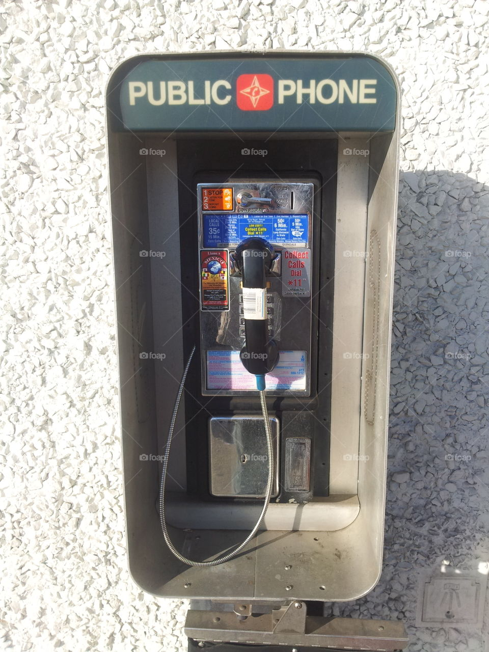 payphone. an old payphone