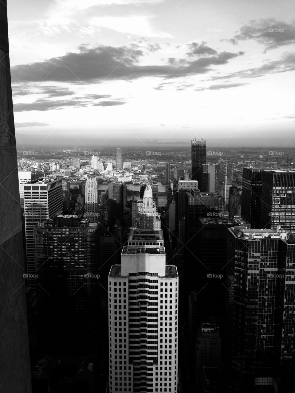 New York skyline architecture . Trip to New York 3 years ago, photo in the Top of the rock.
