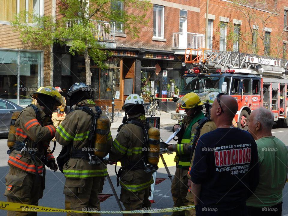 Montreal firemen