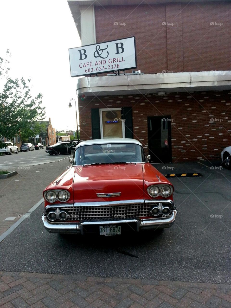 Classic red chevrolet