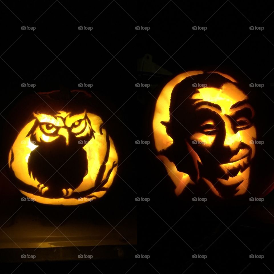 carving fun. Halloween carving from Texas