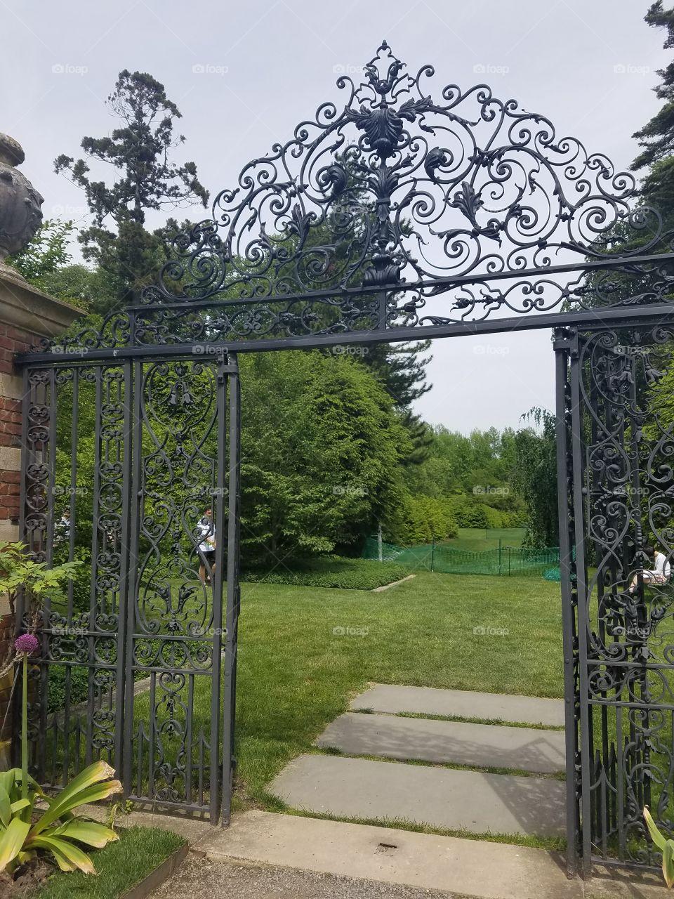 Garden, Gate, Flower, Entrance, Architecture