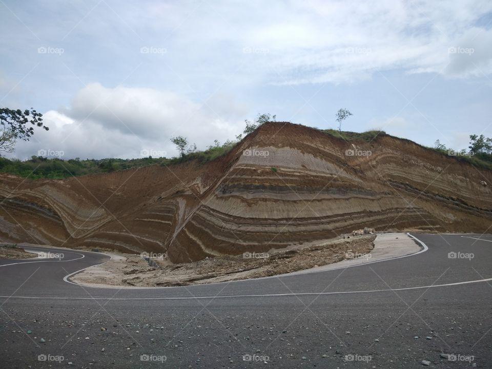 Hill's landscape near Nangapanda, Flores Island, Indonesia