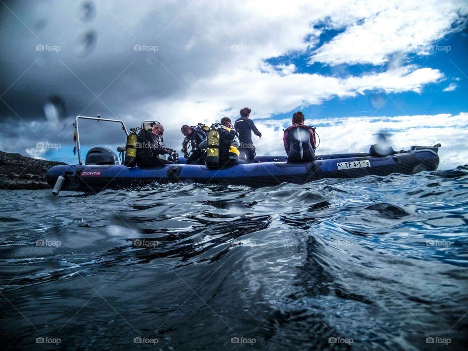 RIB diving