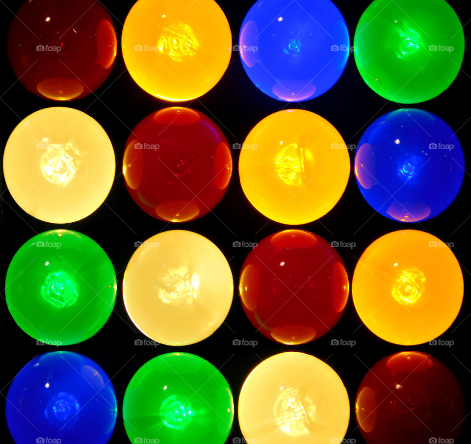 Brilliant colored Christmas lights!