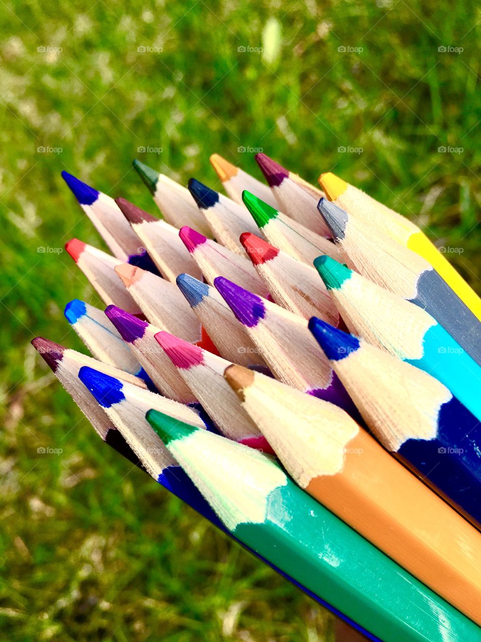 Bunch of colorful pencil