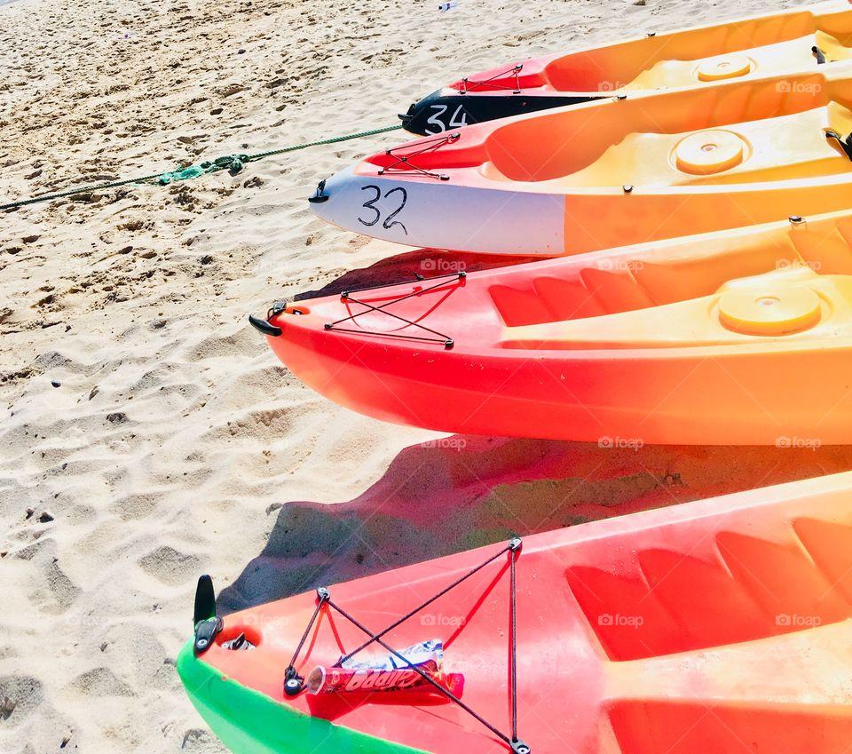 Kayak, Sports, Color, Beach
