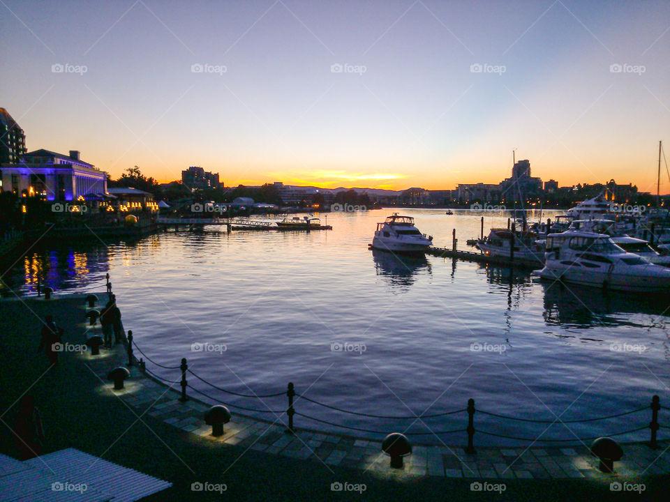 Victoria, BC. Inner Harbour of Victoria, BC at dusk!