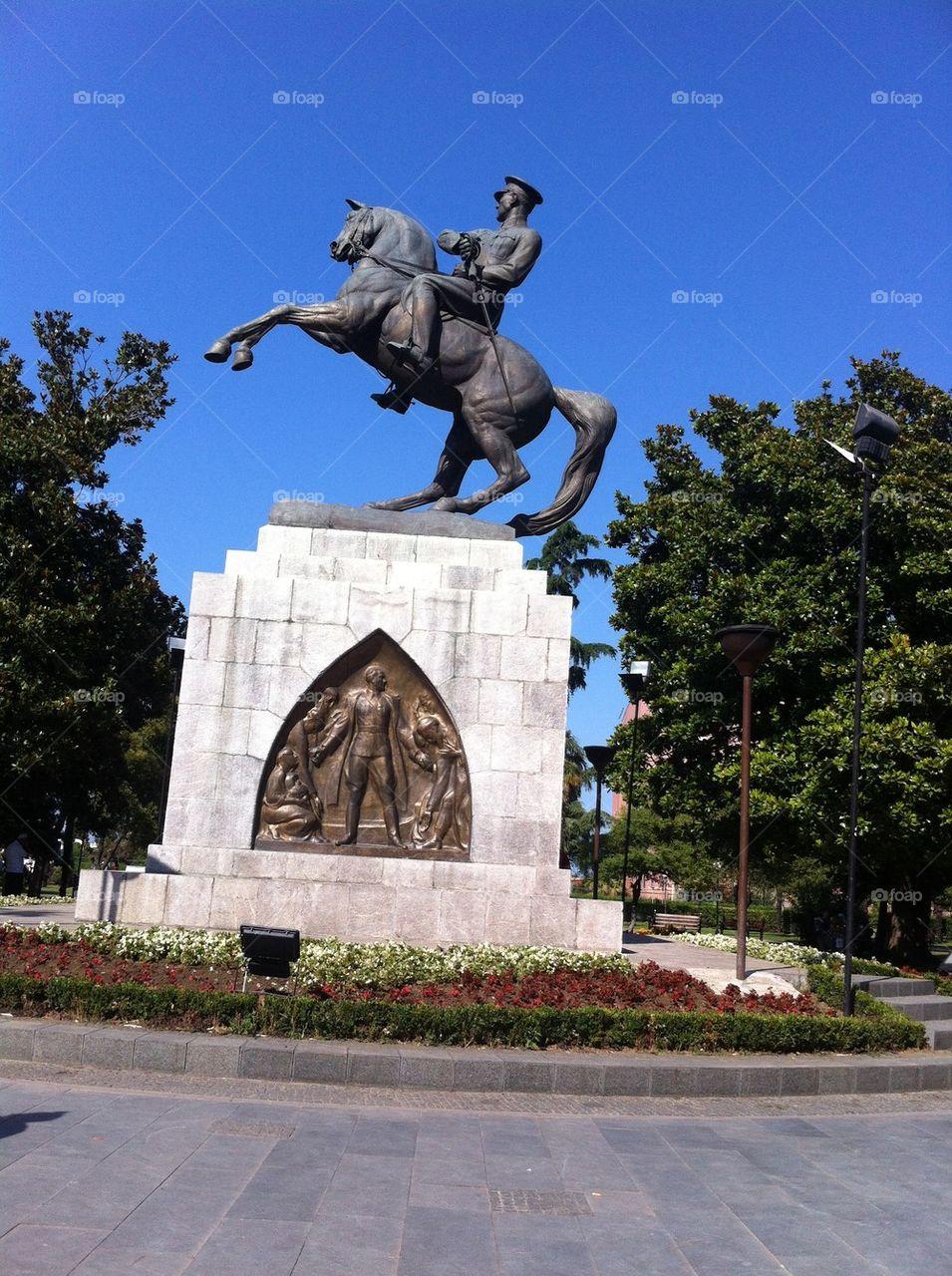 statue of Atatürk on his horse