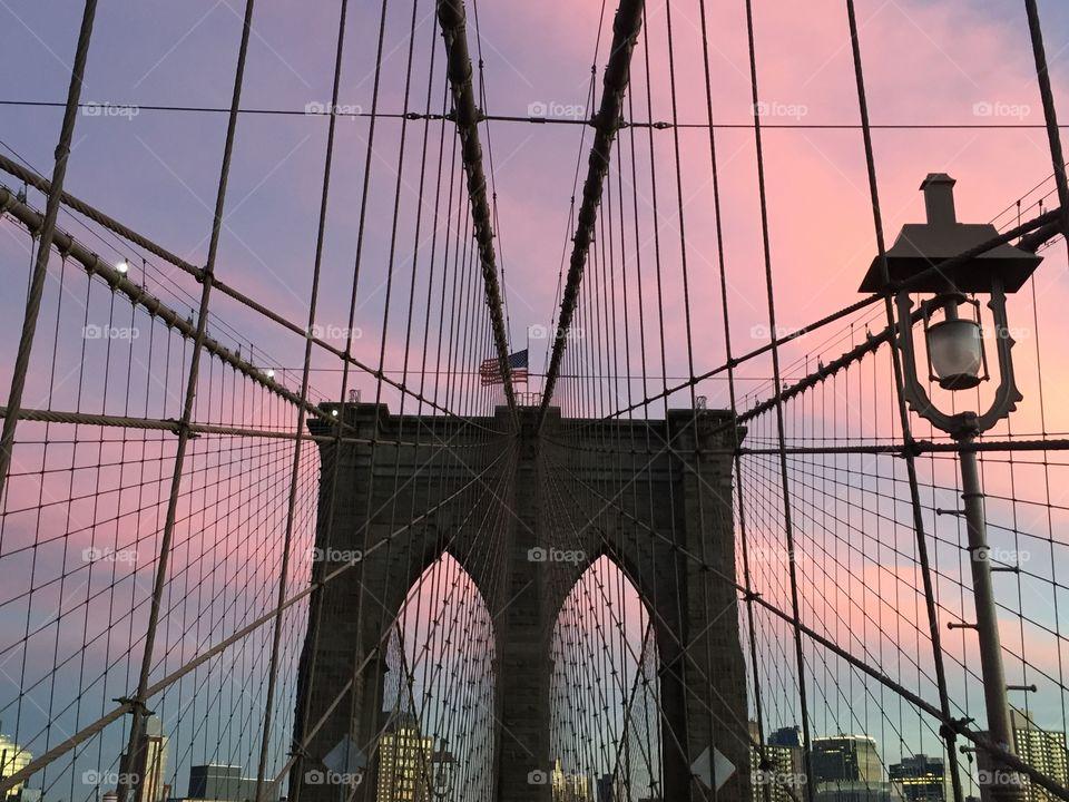 Brooklyn Bridge at dusk