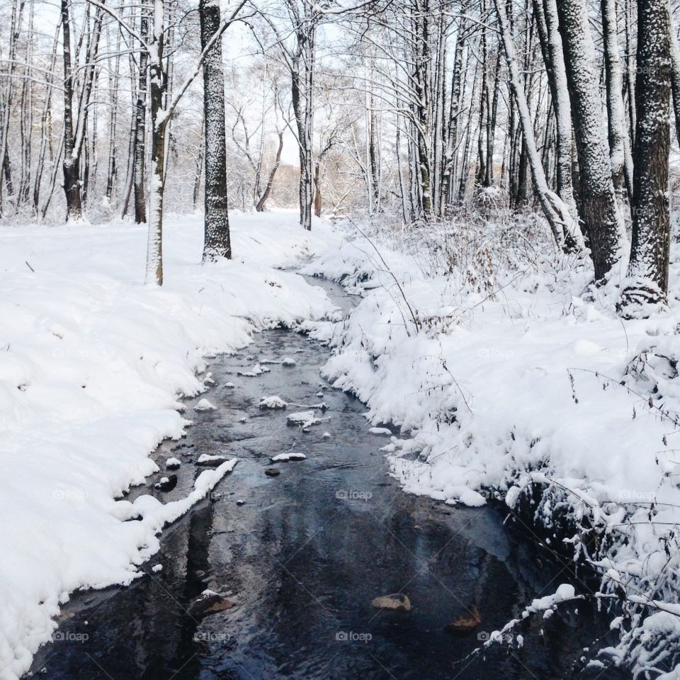 View of river in winter
