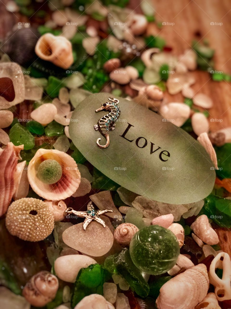 Stunningly Beautiful all Natural Hand Picked Beach and Sea Glass ! Perfect Canvas Art, Screensavers and Desktop.