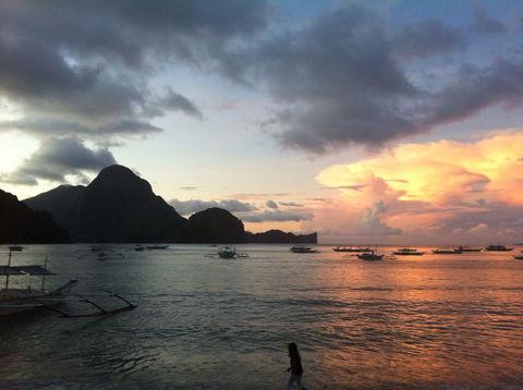 sunset philippines palawan el by ravanti