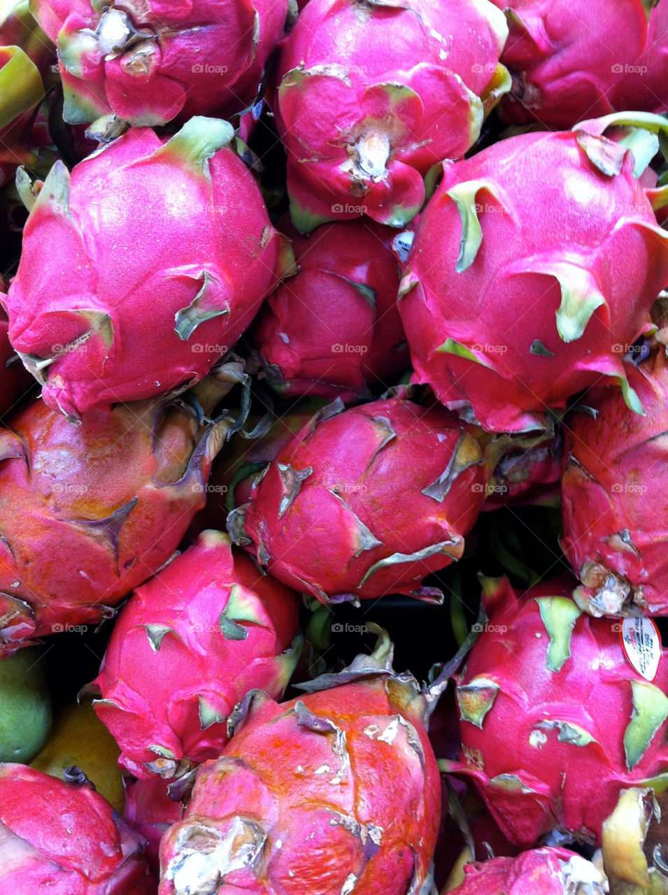 Dragonfruit at a located at a midwestern supermarket.
