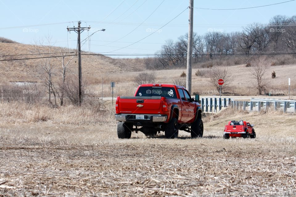 Like Father, Like Son. Sr's and Jr's trucks