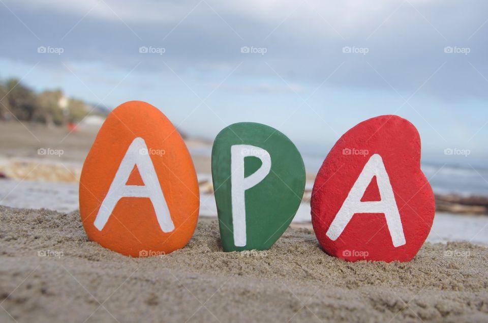 Apa, father in hungarian language