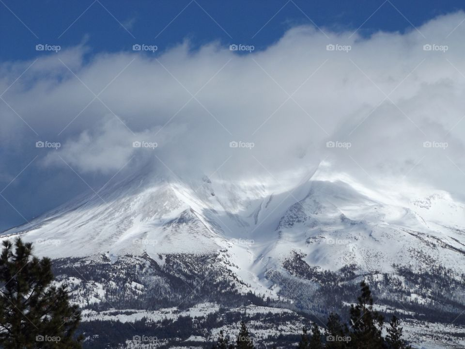 Mount Shastina. Shastina is the highest satellite cone of Mount Shasta.