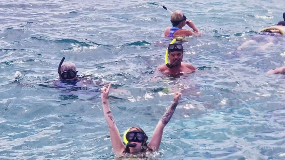 Can't get anymore firsts in this..First adult vacation. First time in the Caribbean..First time snorkeling..