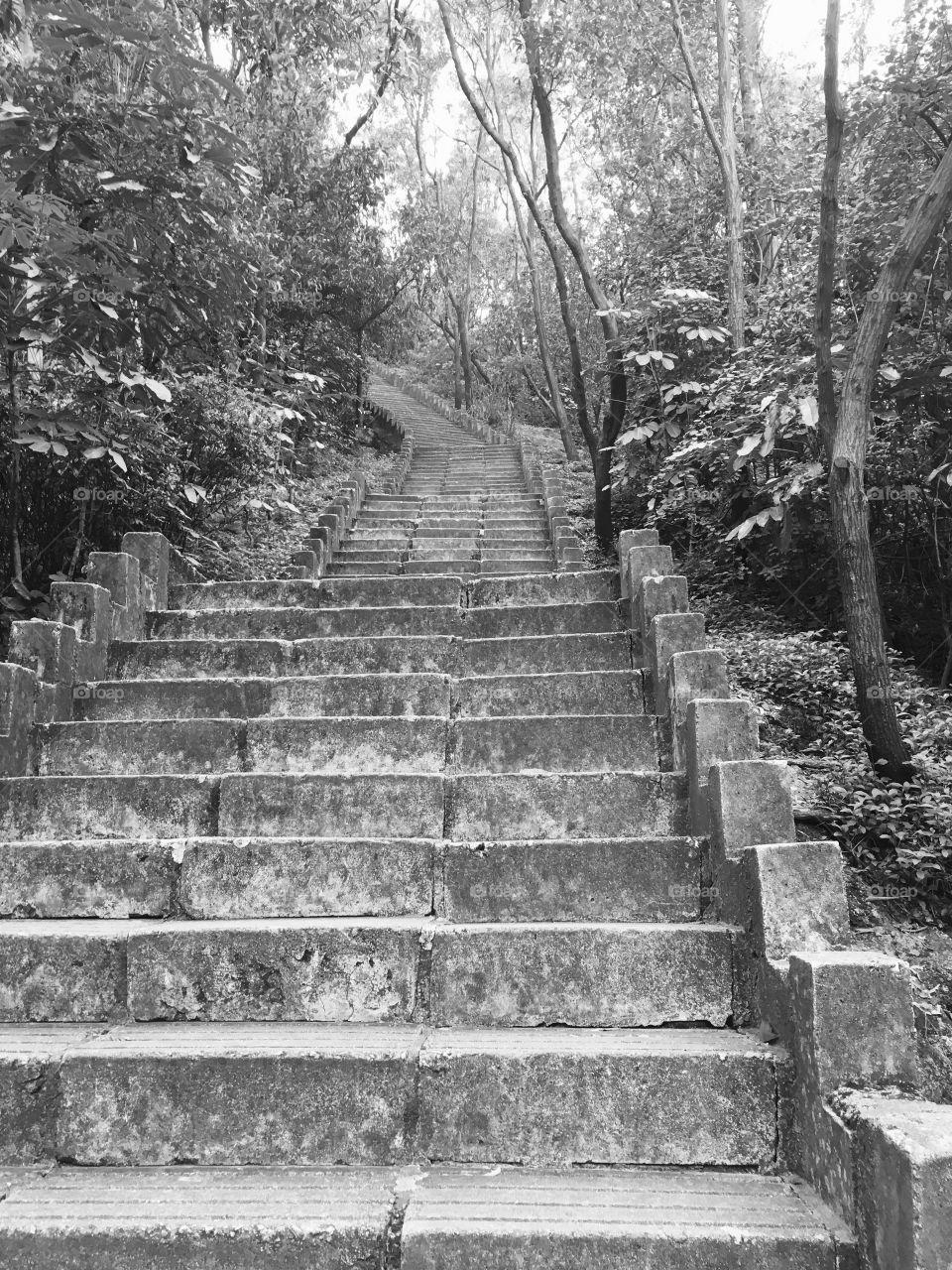 Steps at Nanshan Mountain in Shenzhen, China
