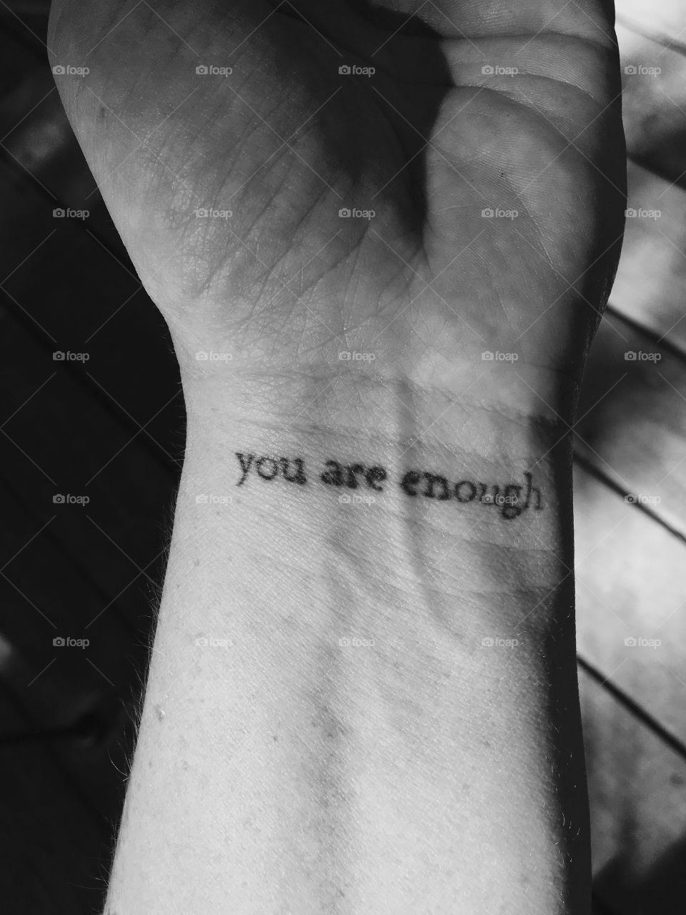 A permanent reminder that it's okay to be who you are without trying to be more than that.