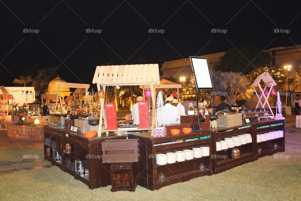 How to make a food stall,very Nice food stall and dish setup for wedding party