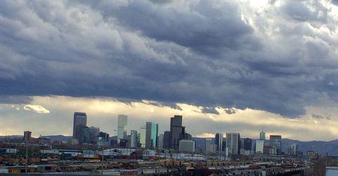 View of cityscape in Denver, Colorado, Usa