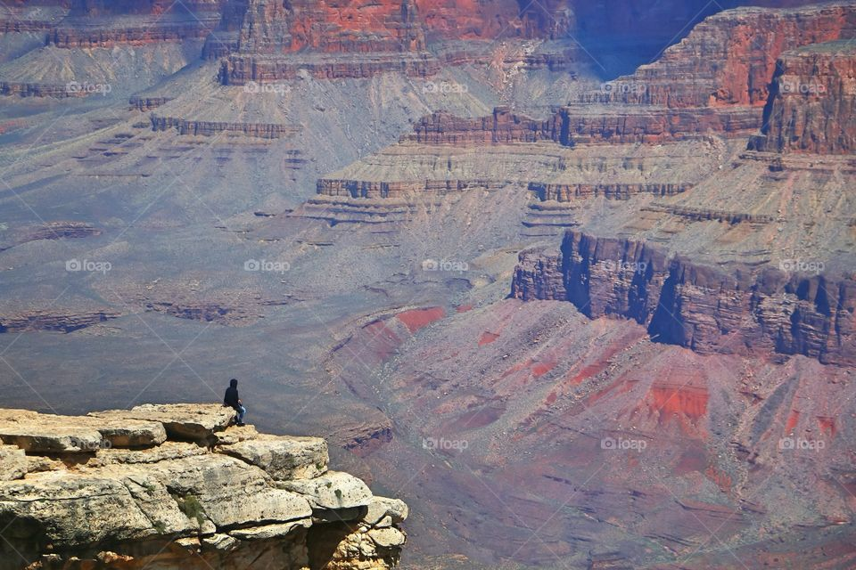 Tourist at the Grand Canyon