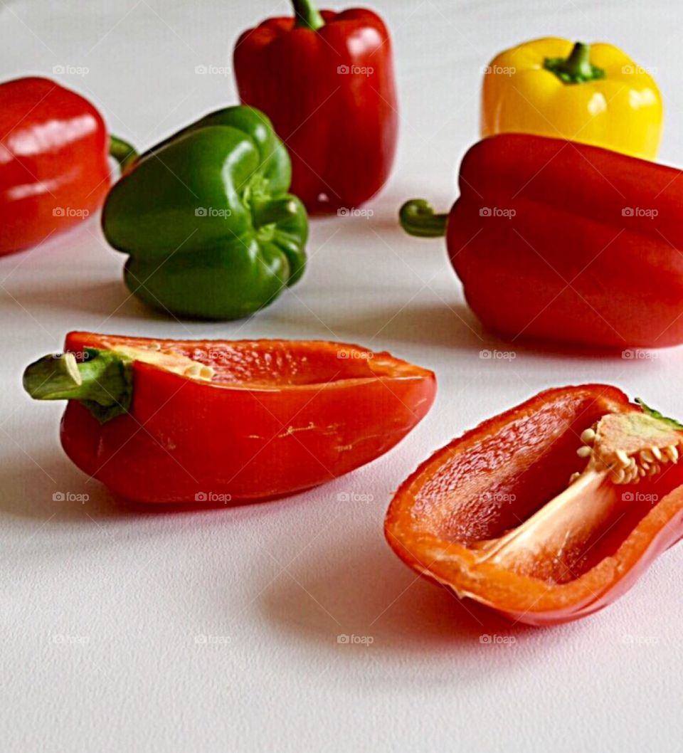 Selection of bell peppers