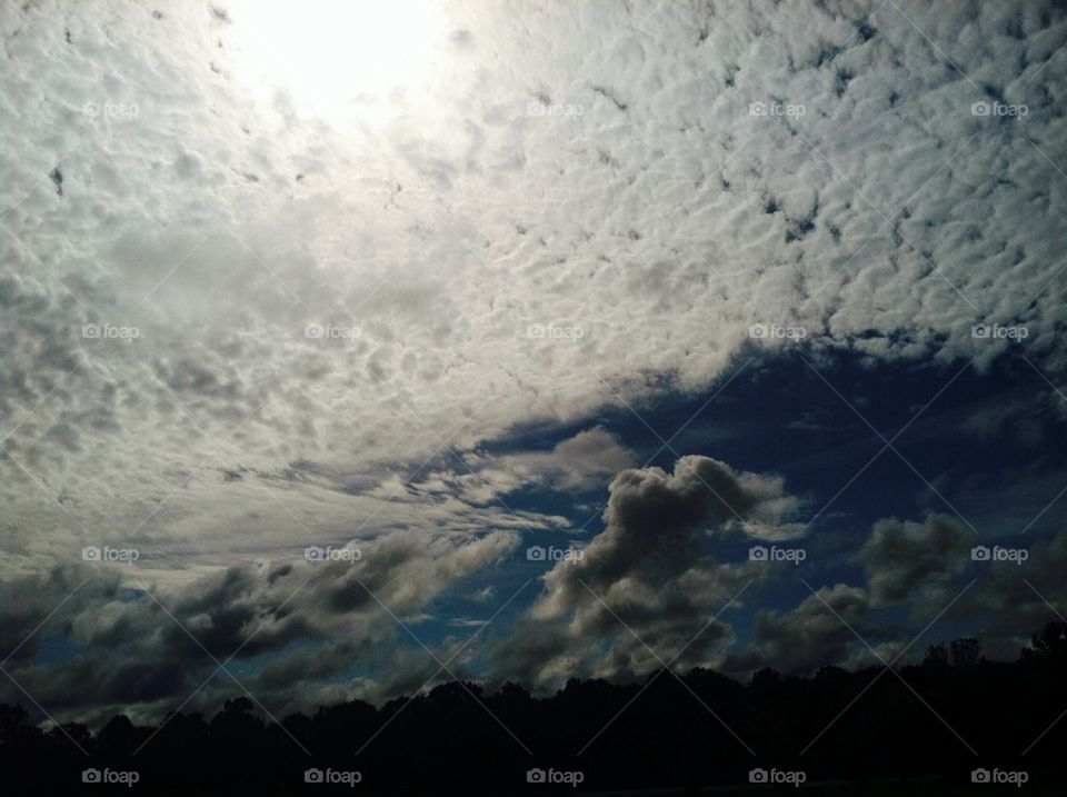 Bright Cloud spotted sky