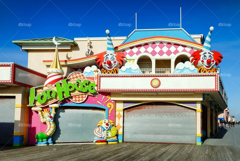 Funhouse on Point Pleasant boardwalk at the New Jersey Shore
