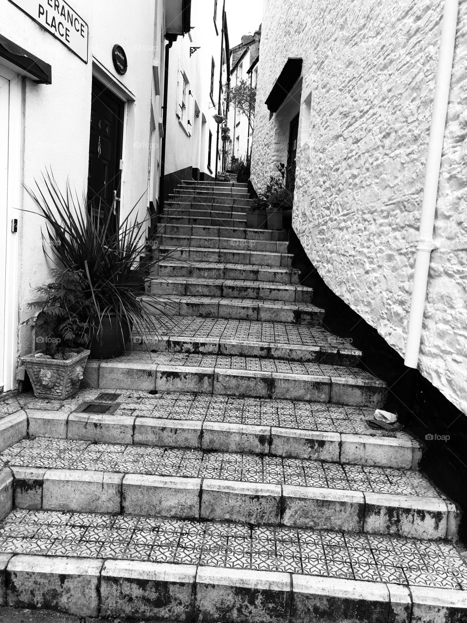 Perhaps these Brixham steps, rather steep and not for those without some vigor. Maybe they present a better spectacle in black and white, rather than colour.