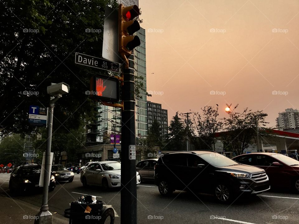 Sunset at West End, Downtown Vancouver