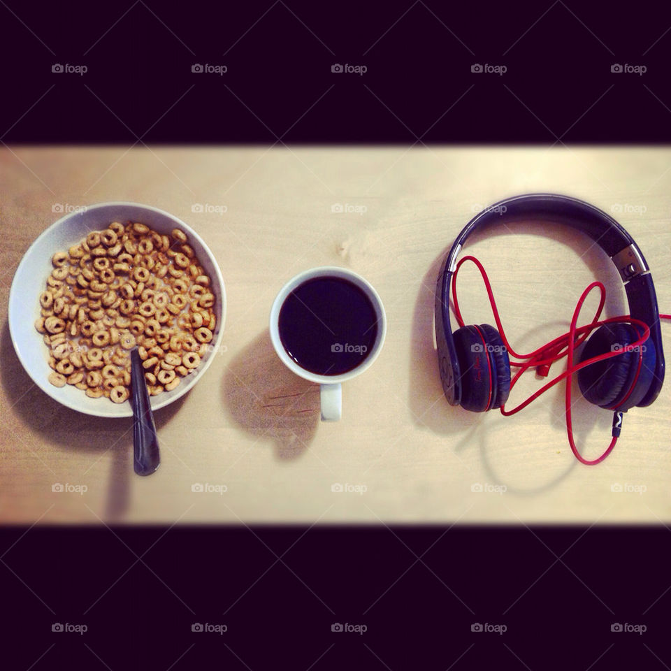 coffee morning music headphones by naseemfaqihi