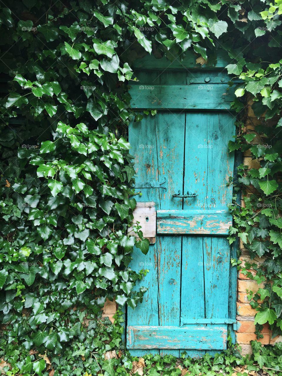 A quiet doorway in Croatia