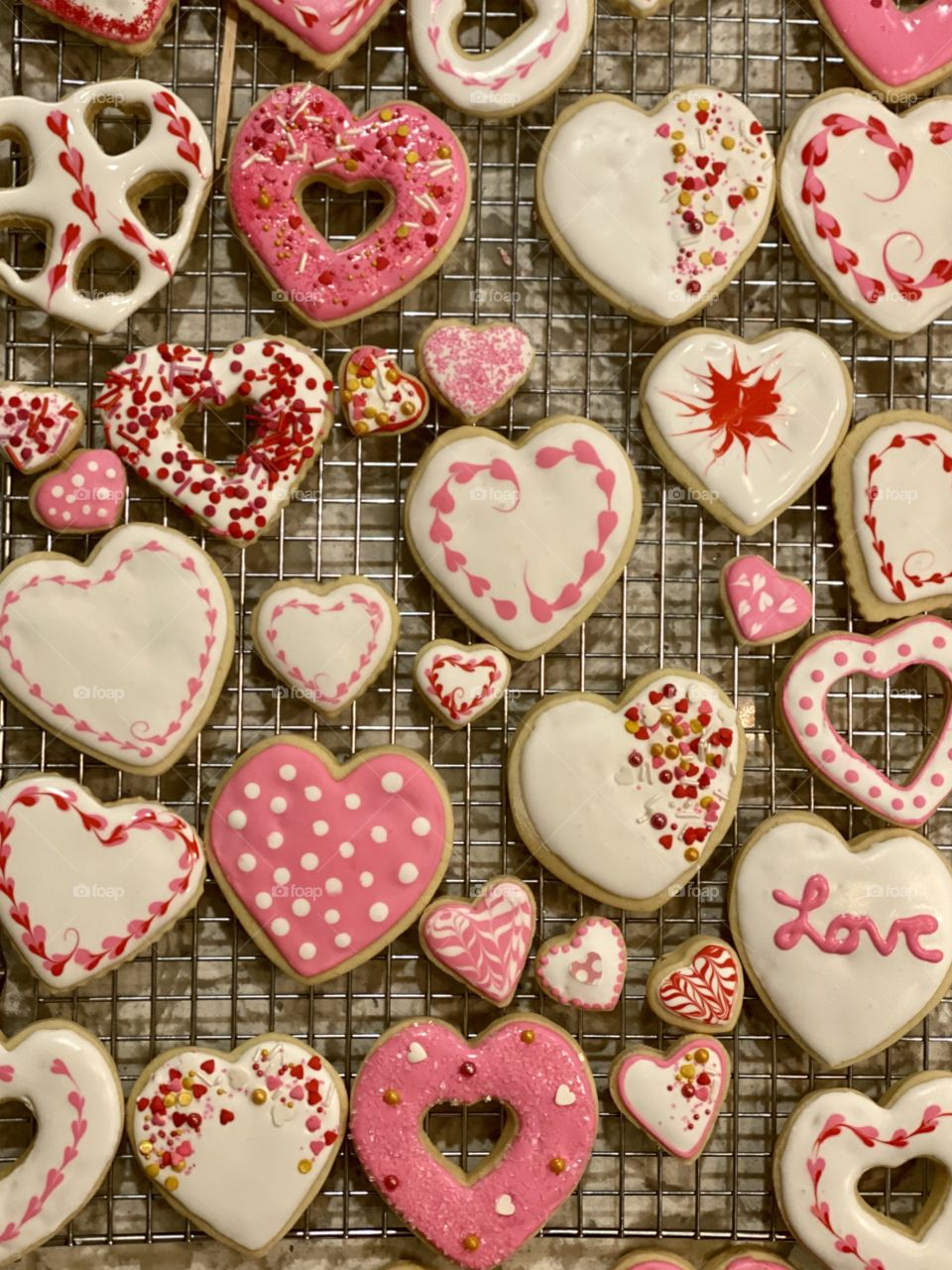A festive array of Valentine's Day cookies