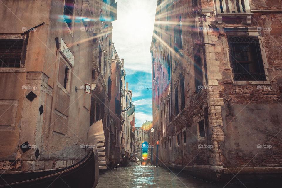 Sun rays in Venice